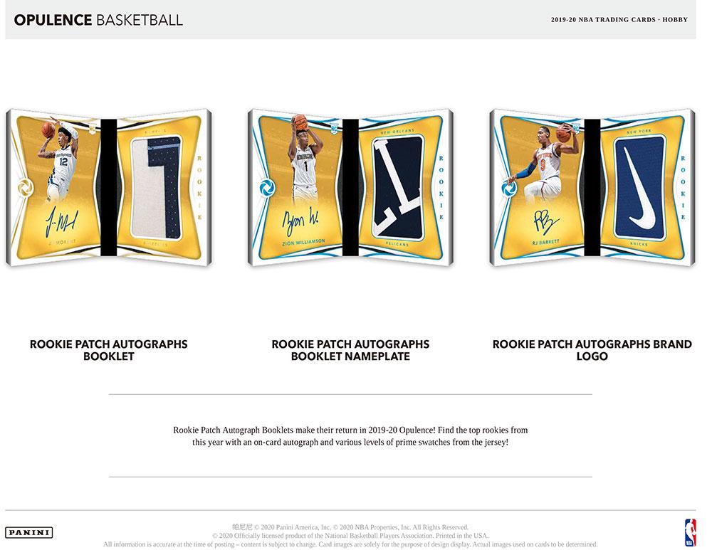 NBA 2019-20 Panini Opulence Basketball