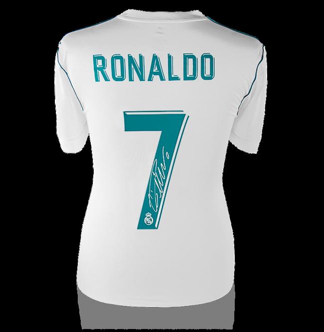 クリスティアーノ・ロナウド 直筆サインジャージ 2017-18 レアル・マドリード ホーム (Back Signed Real Madrid 2017-18 Home Shirt) / Cristiano Ronaldo 6/1再入荷