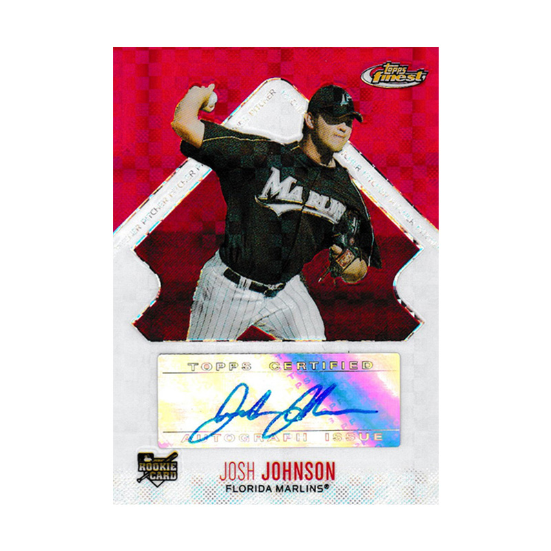 ジョシュ・ジョンソン 2006 Topps Finest Autographs Xfractor 068/250 Josh Johnson
