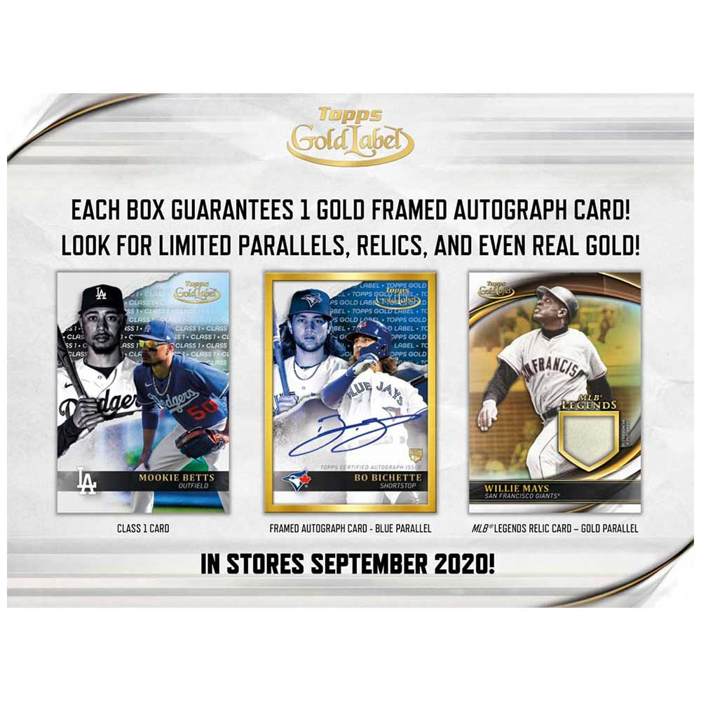 MLB 2020 Topps Gold Label Baseball 10/14入荷!