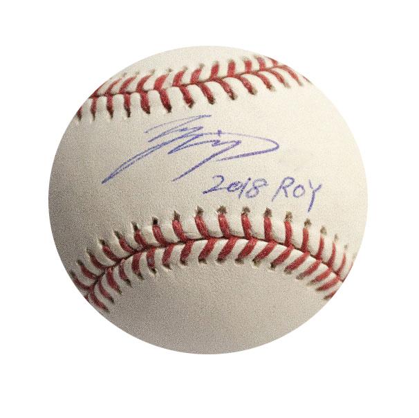 大谷翔平 2018 ROY 入り直筆サインボール / Shohei Ohtani Autographed Inscribed 2018 ROY Baseball