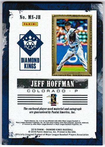 ジェフ・ホフマン 2018 Panini Diamond Kings Baseball DK Materials Signatures Holo Gold #MS-JH 08/49 Jeff Hoffman