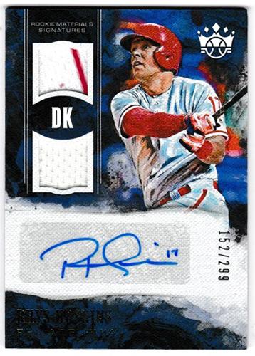 リース・ホスキンス 2018 Panini Diamond Kings Baseball DK Rookie Materials Signatures #RMS-RH 152/299 Rhys Hoskins
