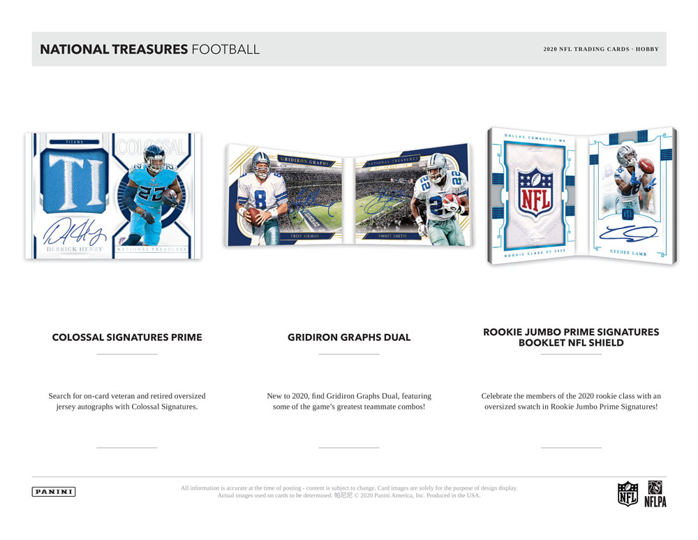NFL 2020 Panini National Treasures Football 4/14入荷!