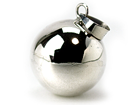 ガムランボール PLAIN(プレーン) SILVER(シルバー)(M)※シルバークロス付き◆  《メール便対応可》