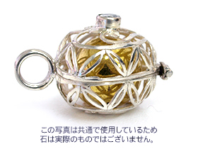 ガムランボール BASKET(M) PURE HEART2(ピュアハート2)(ストーン11種類)※シルバークロス付き◆  《メール便対応可》