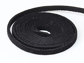紐(スウェード)Black(〜90cm)◆《メール便対応可》