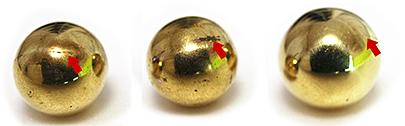 ※キズあり 真鍮のボール(M×10個)