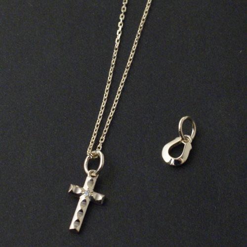 Cross&Horseshoe Necklace K10 Yellow Gold w/Daiamond