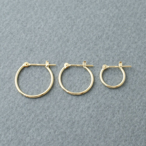 K18 GOLD CLOSING PIERCE 10mm 13mm 15mm