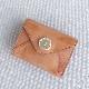 メール型3つ折りミニ財布(やぎ革・焦がし)