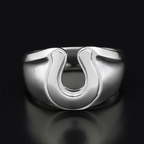 Horseshoe Amulet Combination Ring - Silver