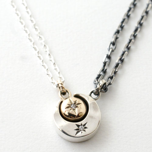 MOON PAIR NECKLACE