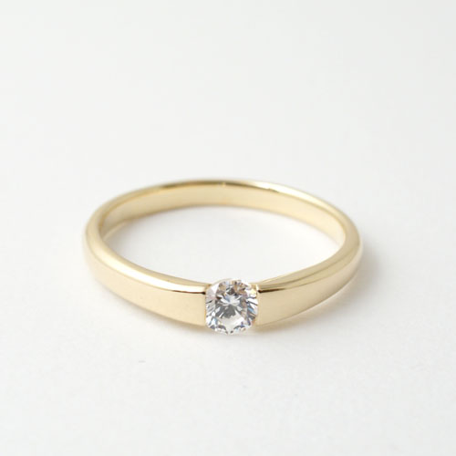 WITH ENGAGEMENT RING K18YG
