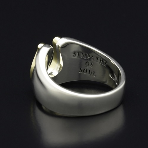 Horseshoe Amulet Combination Ring - Silver×Brass