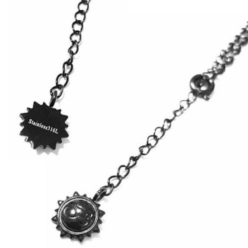 CROSSED ARROWS BLACK STAINLESS NECKLACE