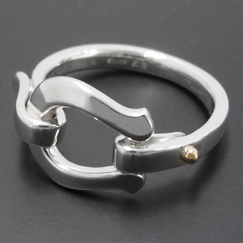 Horseshoe Band Ring - Silver