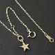 Small Star Charm - K18Yellow Gold+K18-2段階アジャストチェーン(太0.33)50cm