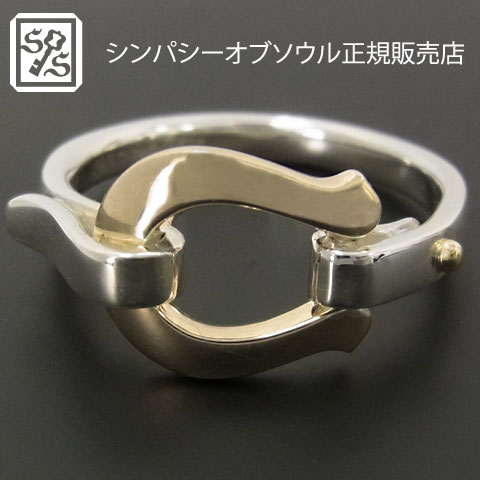 Horseshoe Band Ring - Silver×K10Yellow Gold