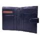 メール型2つ折り中財布(ブラック)