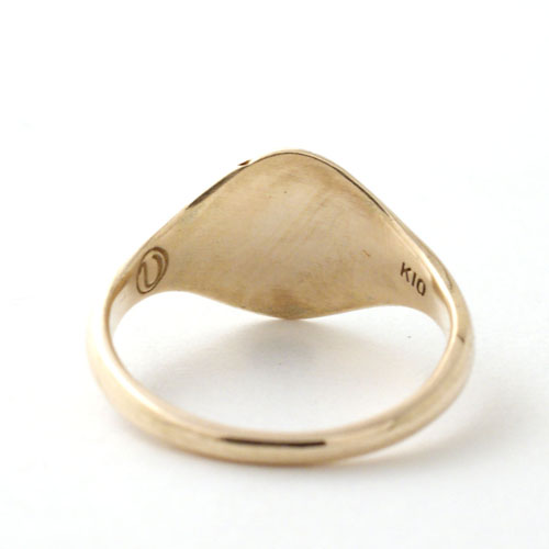 SIGNET RING OVAL MID-GOLD