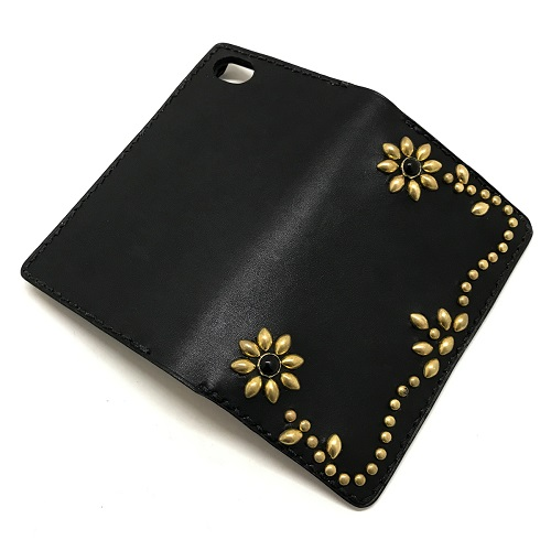 Flower Antique Dyed Leather iPHONE 6/6S-7/8-X&XS兼用 CASE