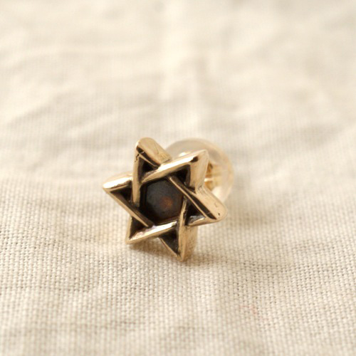 TINY 10K DAVID-STAR PIERCE