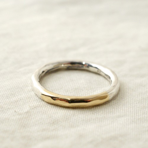QUARTER GOLD K18 RING