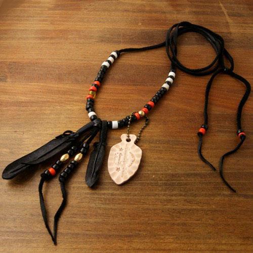J.D Black Feather Necklace Black