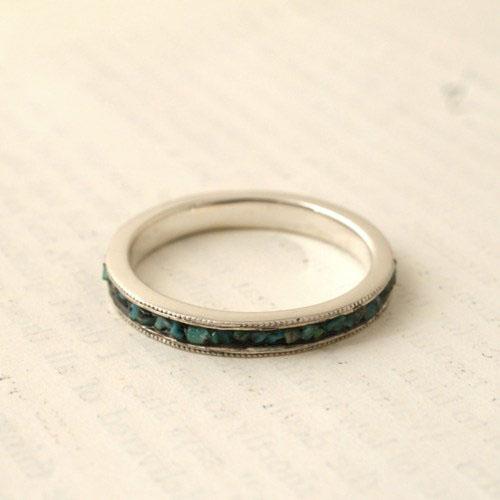 GARDEN OF EDEN Turquoise Scroll Ring