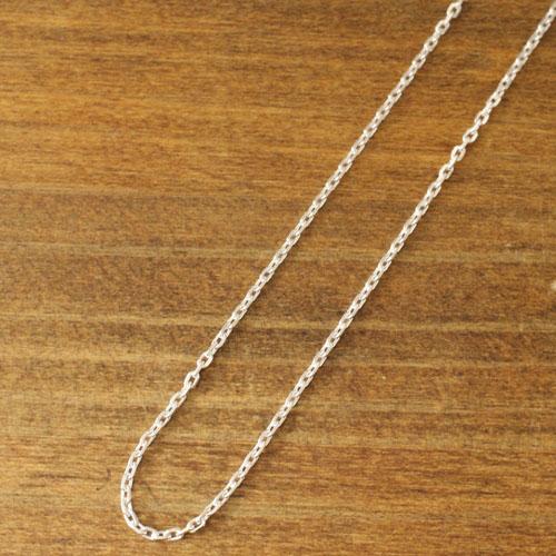 4面カットシルバー925小豆チェーン 白仕上げ 50cm