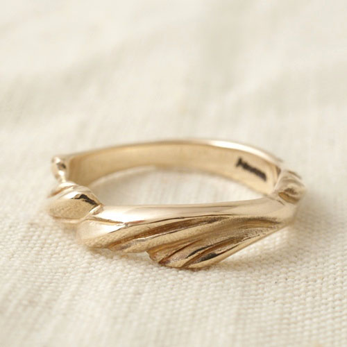 GOLD FEATHER KALEVALA RING L