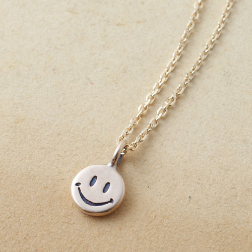 10K SMILE NECKLACE SMALL