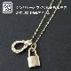 Small Charm Necklace - Horseshoe - K18 Yellow Gold w/Diamond+Small Key Charm - K18 Yellow Gold