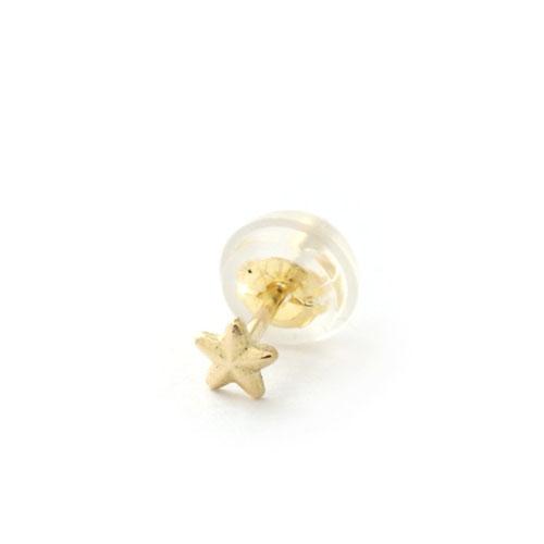 K18 GOLD STAR STUD PIERCE