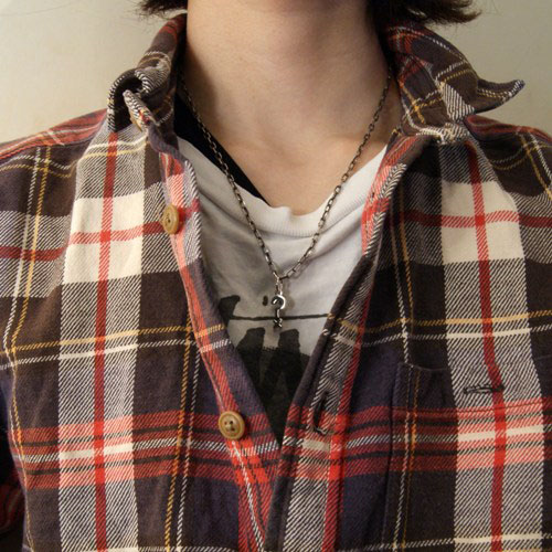 JOHNNY DEPP Question Tattoo Necklace