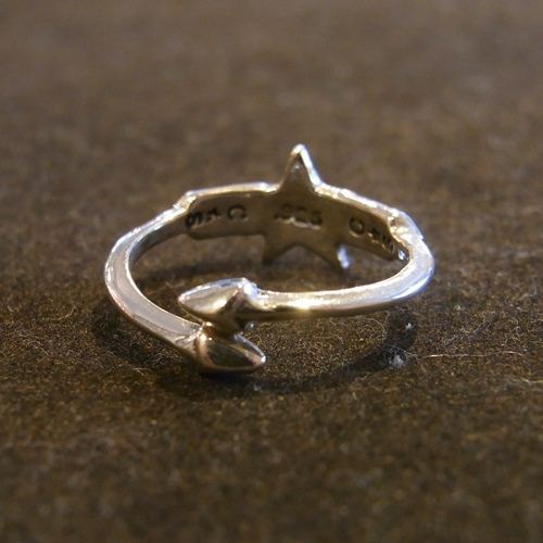 W-SMALL ARROW SMALL STAR FREE RING