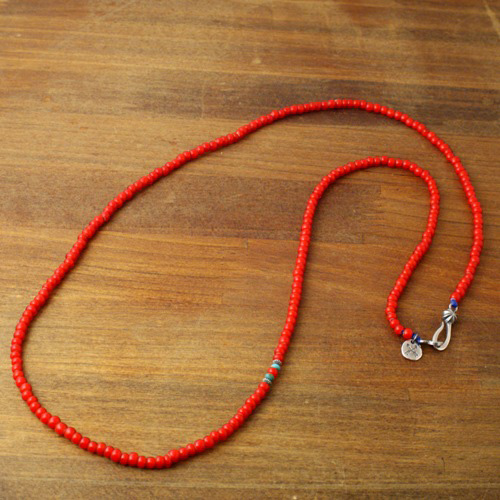 NATIVE BEADS NECKLACE / WH