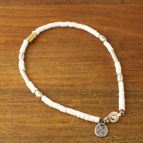 SILVER & SHELL BZ ANKLET