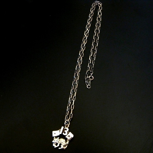 13 CAT CHARM-silver