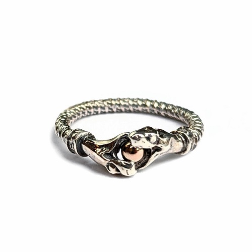 C*G LIMITED 10KPG & SV SNAKE RING