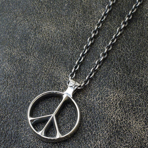 PEACE SIGN & STAR PENDANT+CL80(50)イブシ