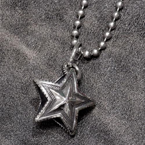 REVERSIBLE STAR ARROW VAIL PENDANT+STAINLESS BALLCHAIN