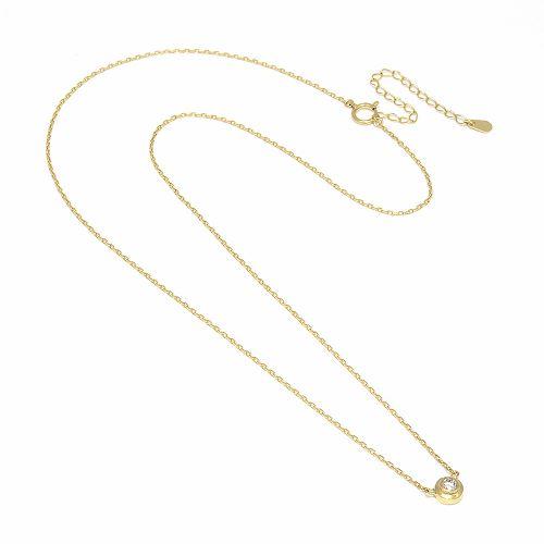 セール30%オフ在庫限りOne Diamond Necklace - K18Gold w/Diamond