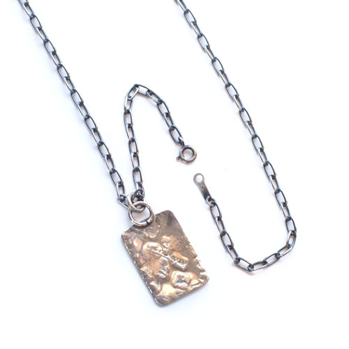 RED RABBIT STAMP NECKLACEインディアンジュエリー1点物
