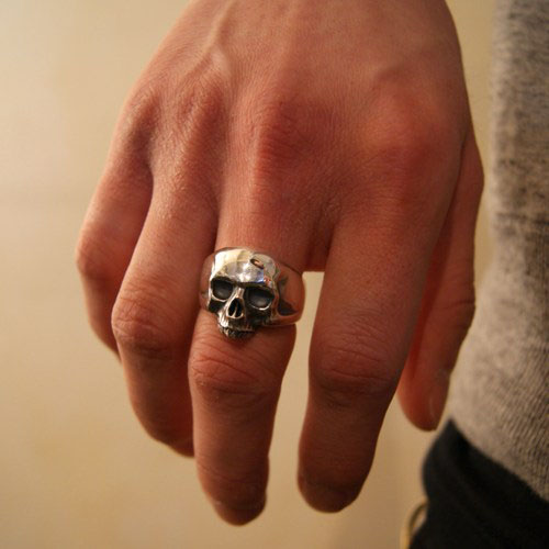 HEAVY SKULL RING STAY GOLD