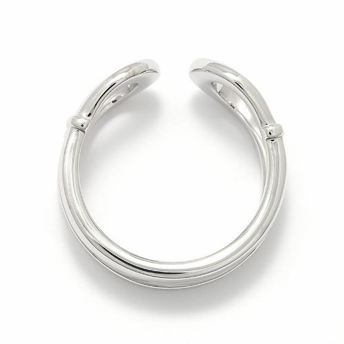 Double Horseshoe Ring - Silver