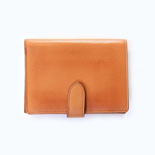メール型2つ折り中財布(ネイビー/オレンジ)