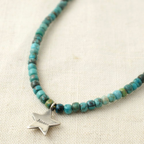 NEW MILITARY STAR TURQUOISE NECKLACE
