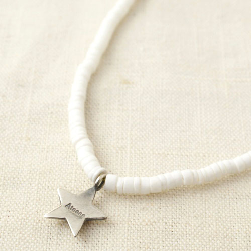 NEW MILITARY STAR WHITE SHELL NECKLACE